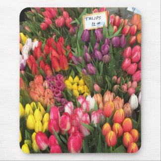 Tulips for Sale NYC Flower Stand Farmers Market Mouse Pad