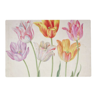 Tulips, from the 'Nassau Florilegium' (w/c on pape Laminated Place Mat
