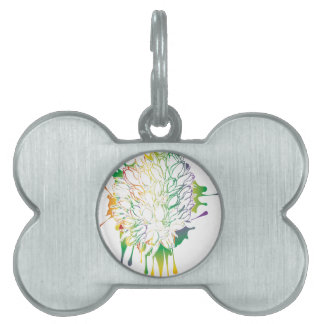 Tulips Grunge Sketch 2 Pet ID Tags