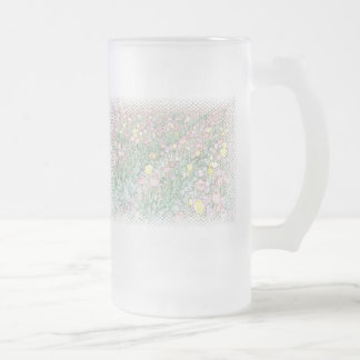 Tulips Hand Drawing Large Frosted Mug