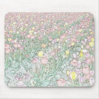 Tulips Hand Drawing Mousepad