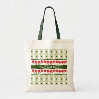Tulips & Hearts gift bag, customize Tote Bag