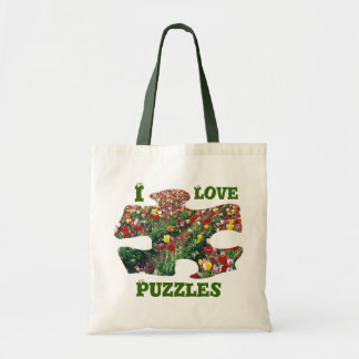 Tulips I Love Puzzles Tote Bag