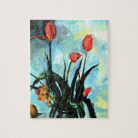 Tulips in a Vase by Paul Cezanne, Vintage Art Jigsaw Puzzle