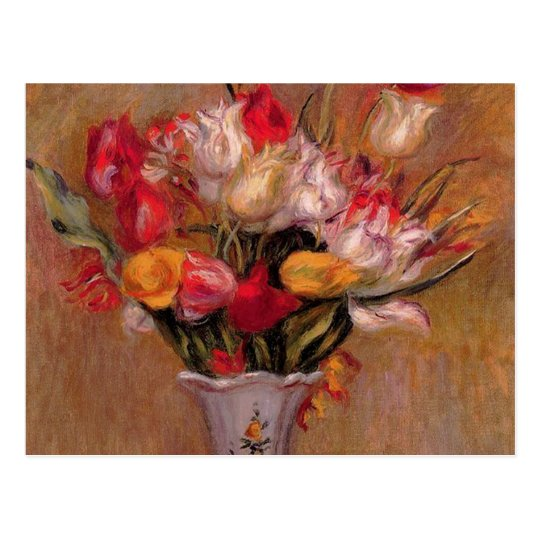 Tulips in a Vase Fine Art Bridal Postcard