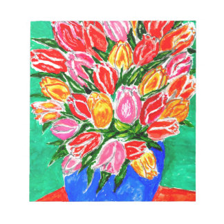 Tulips in a Vase Painting Notepad
