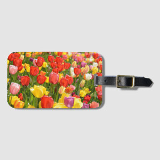 Tulips in the Garden Luggage Tag