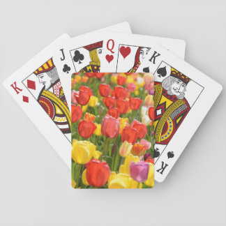 Tulips in the Garden Playing Cards