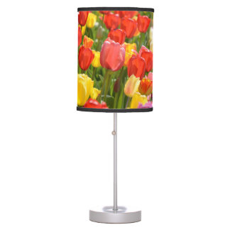 Tulips in the Garden Table Lamp