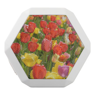 Tulips in the Garden White Bluetooth Speaker