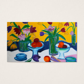 Tulips in Vases Business Card