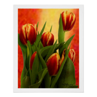 Tulips - jGibney 2010 The MUSEUM Zazzle Gifts Poster