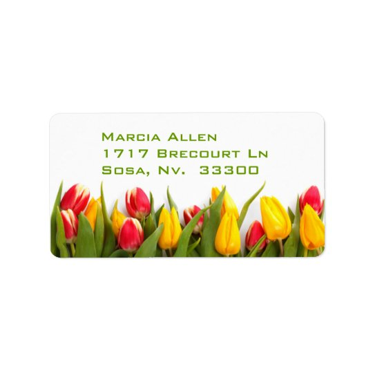Tulips Label