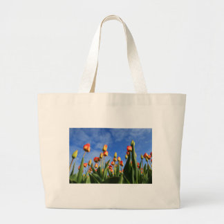 tulips large tote bag