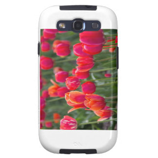 Tulips on a phone galaxy s3 cover