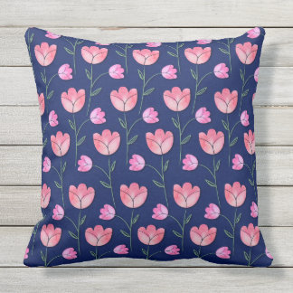 Tulips Outdoor Pillow