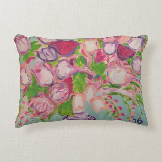 Tulips Overflowing Decorative Pillow