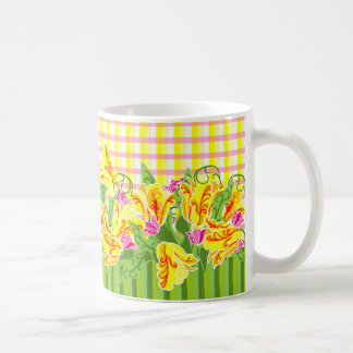 Tulips & Plaid Spring Coffee Cup