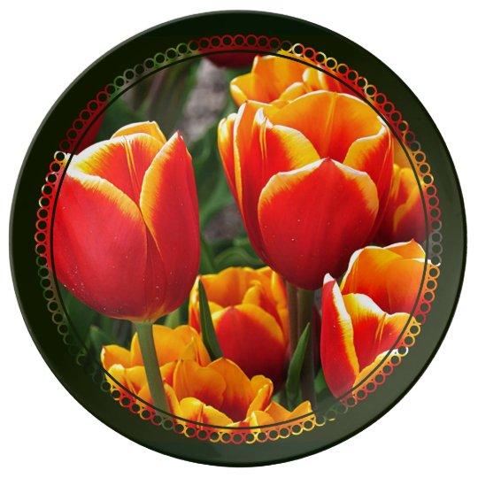 Tulips Porcelain Plate