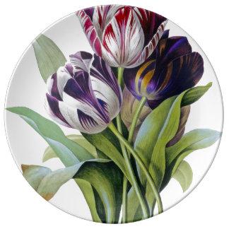 Tulips Trio Plate