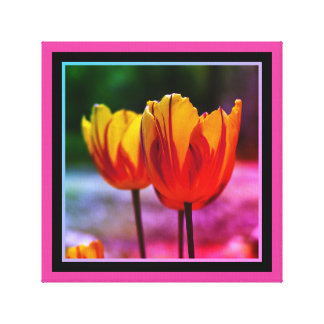 Tulips yellow red_009_q_R5 02.F Canvas Print