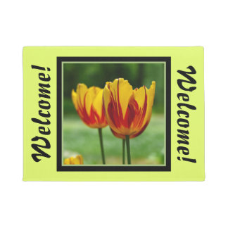 Tulips yellow red_009_q_R5 Doormat