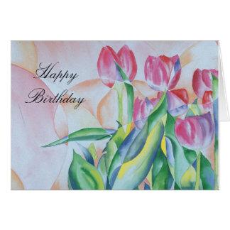 Tulipsmall, HappyBirthday Card