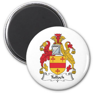 Tulloch Family Crest 2 Inch Round Magnet