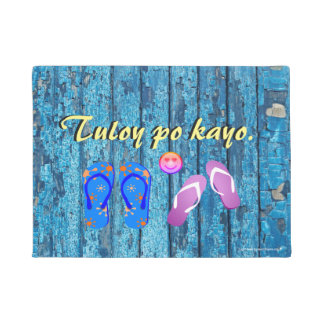 "Tuloy po kayo ""vintage woods blue"" doormat"