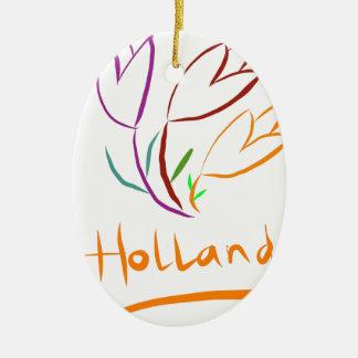 Tulp Holland Ceramic Ornament