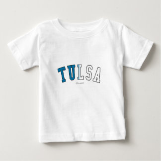 Tulsa in Oklahoma state flag colors Baby T-Shirt