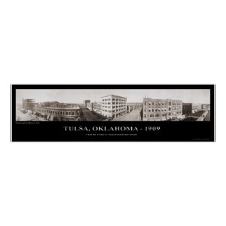 Tulsa, OK - Panoramic Photograph - 1909 Poster