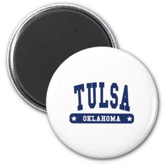 Tulsa Oklahoma College Style tee shirts 2 Inch Round Magnet
