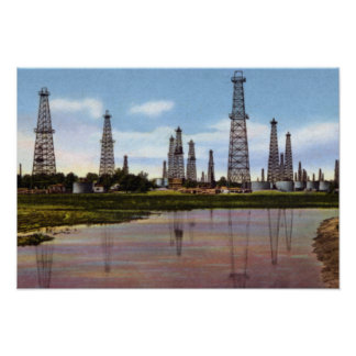 Tulsa Oklahoma Oil Fields Poster