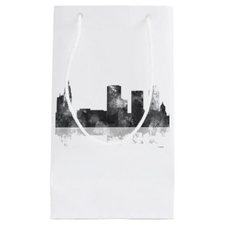 TULSA, OKLAHOMA SKYLINE B & W SMALL GIFT BAG