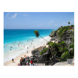 Tulum Beach Mexico Postcard