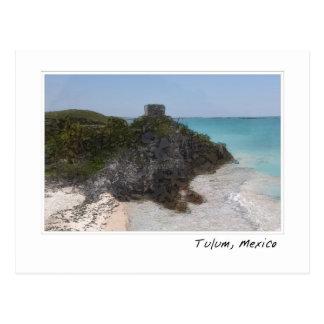 Tulum Mexico Mayan Ruin Ocean Postcard