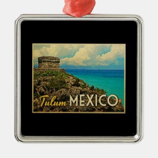 Tulum Mexico Metal Ornament