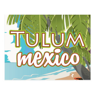 Tulum, mexico travel poster postcard