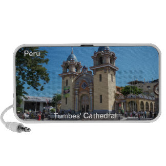 Tumbes' Cathedral Peru  Doodle iPhone Speaker