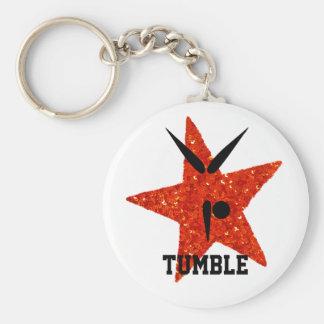 Tumbler Star | Gymnast Gymnastics Tumbling Basic Round Button Keychain