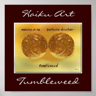 Tumbleweed Haiku Art Print