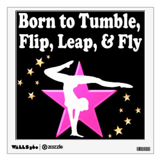 TUMBLING GYMNASTICS DESIGN WALL STICKER