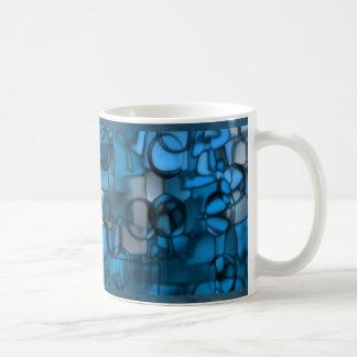 Tumbling Shapes mug in blue © Angel Honey, 2009