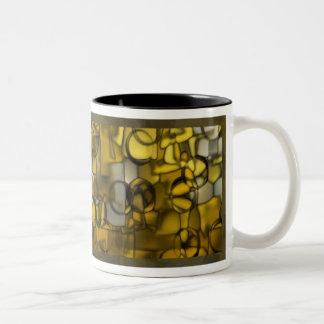 Tumbling Shapes mug in browns © Angel Honey, 2009