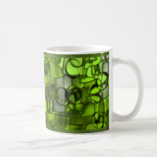 Tumbling Shapes mug in green 2 © Angel Honey, 2009