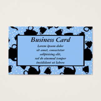 Tumbling Tea Party Business Card