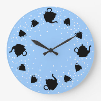 Tumbling Tea Party Large Clock
