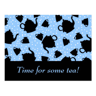 Tumbling Tea Party Postcard