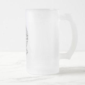 Tumblr Art 16 oz Frosted Glass Mug